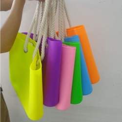 Silicone Beach Bag With Rope Handle